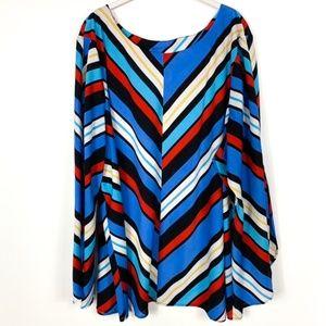 Bob Mackie Wearable Art Blouse Stripe